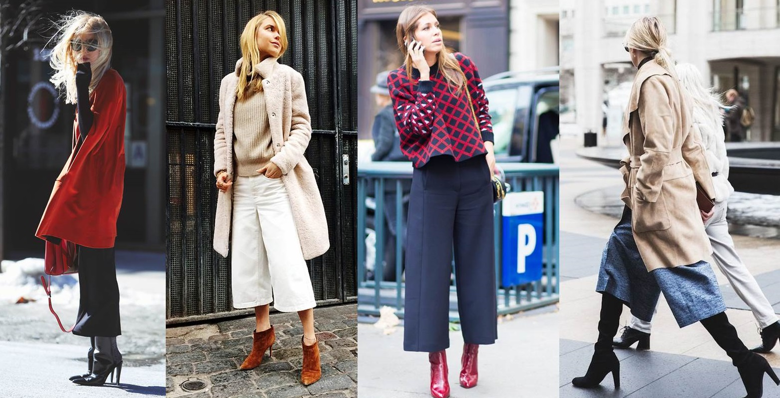 Pantaloni culotte con stivali