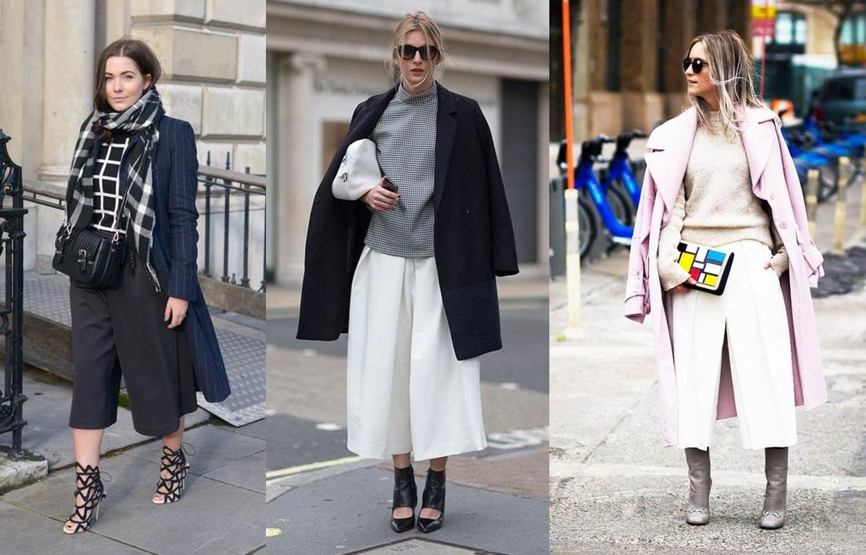 Pantaloni culotte e cappotti