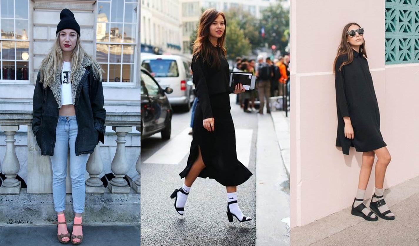 Sandali con le calze