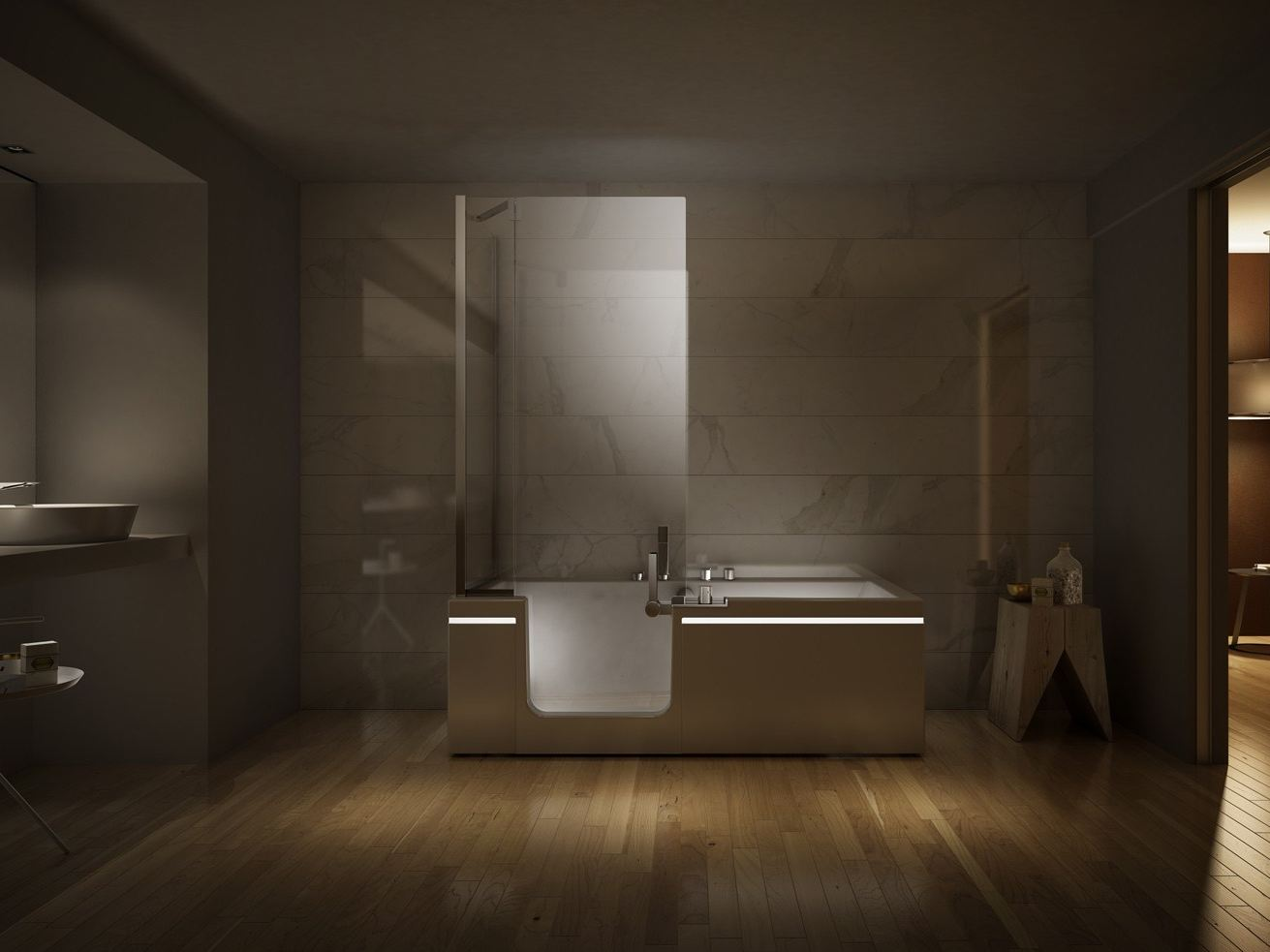 Vasca da bagno con doccia PRÊT À PORTER TEUCO