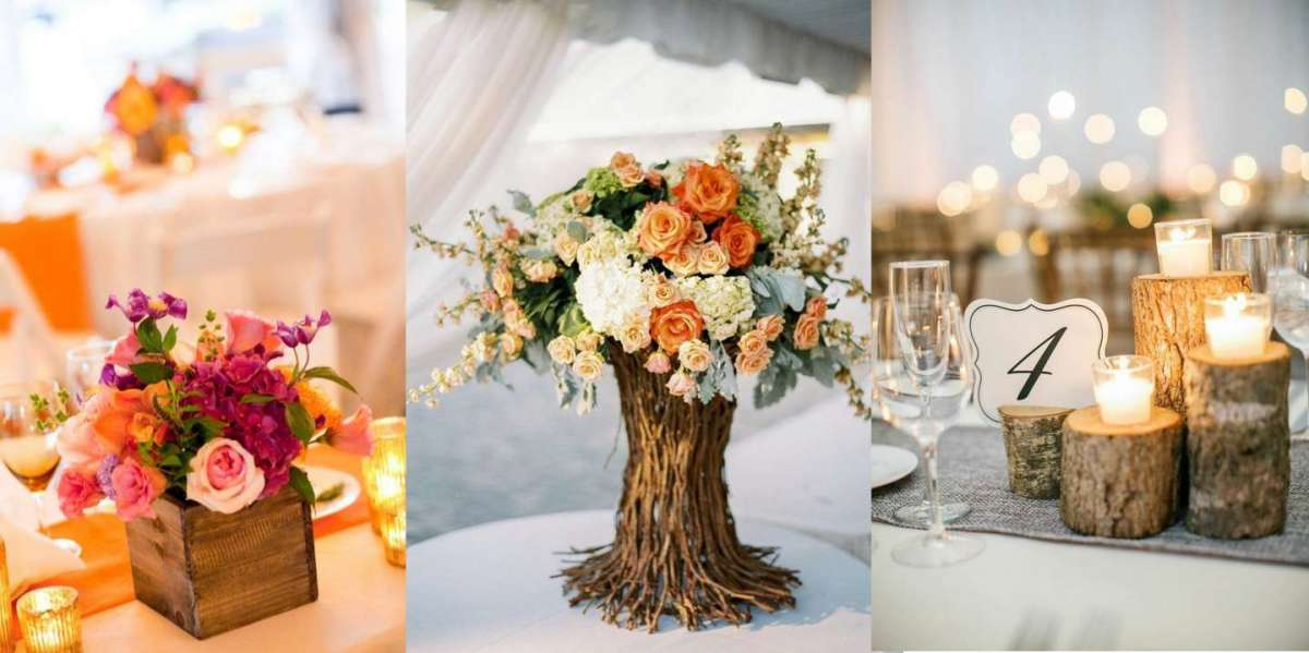 Idee Per Matrimonio Tema Girasoli : Centrotavola in legno per il matrimonio: idee e consigli [foto