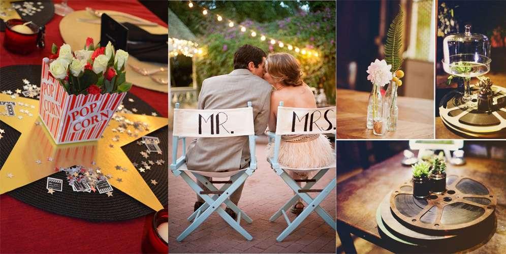 Decorazioni per il matrimonio a tema cinema: idee e consigli [FOTO]