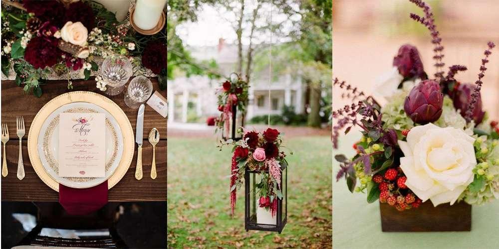 Decorazioni per il matrimonio bordeaux: idee e consigli [FOTO]
