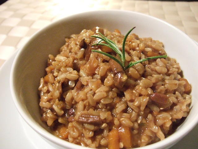 riso funghi
