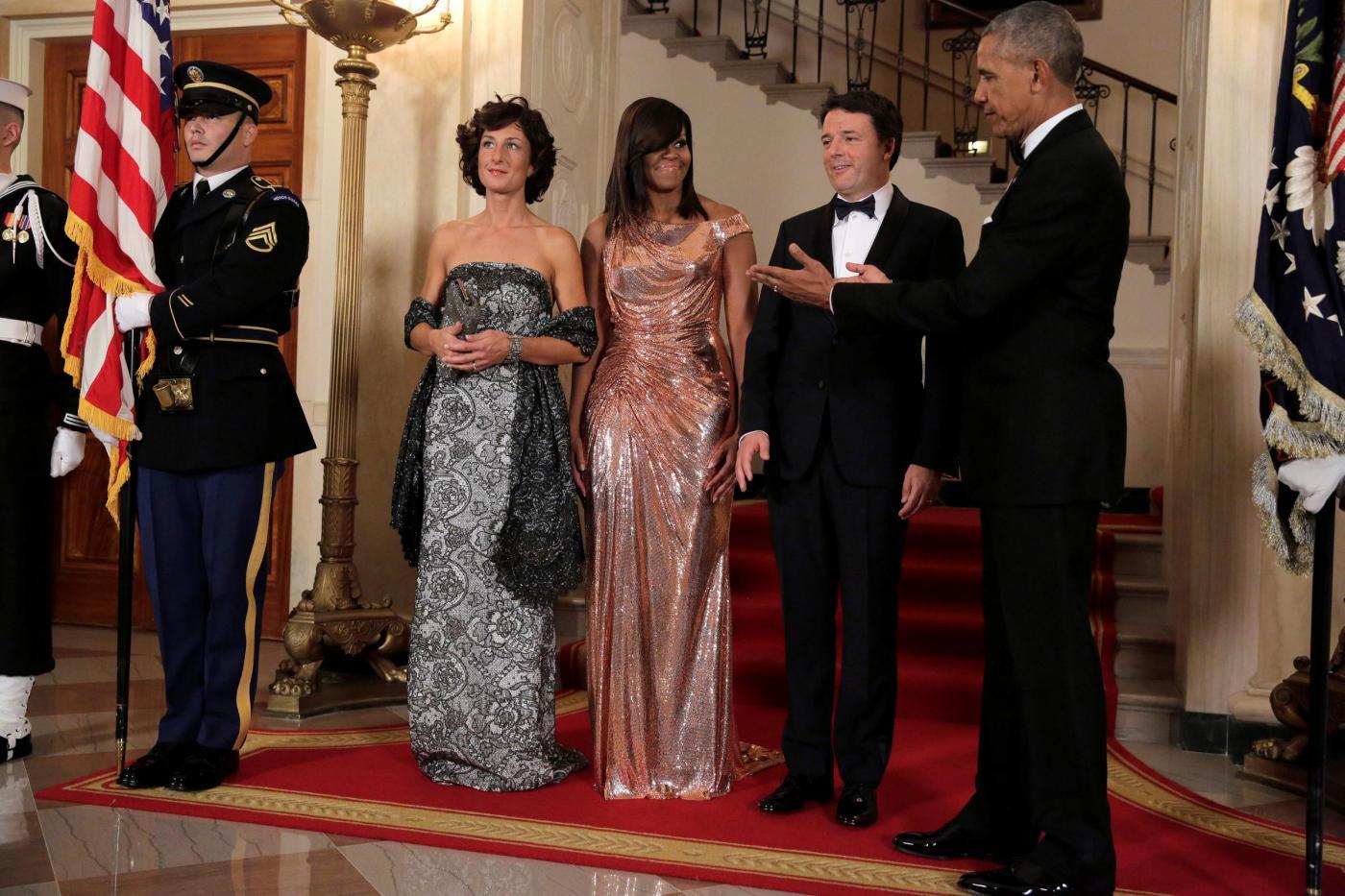 Washington, Renzi da Obama alla cena di Stato alla Casa Bianca