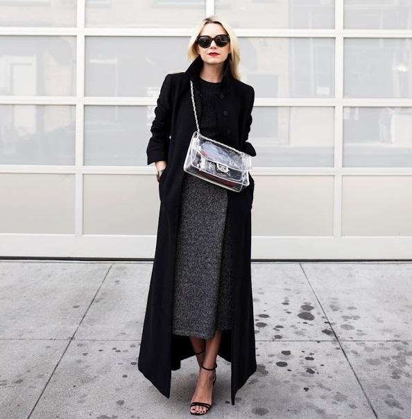 Abito e cappotto nero