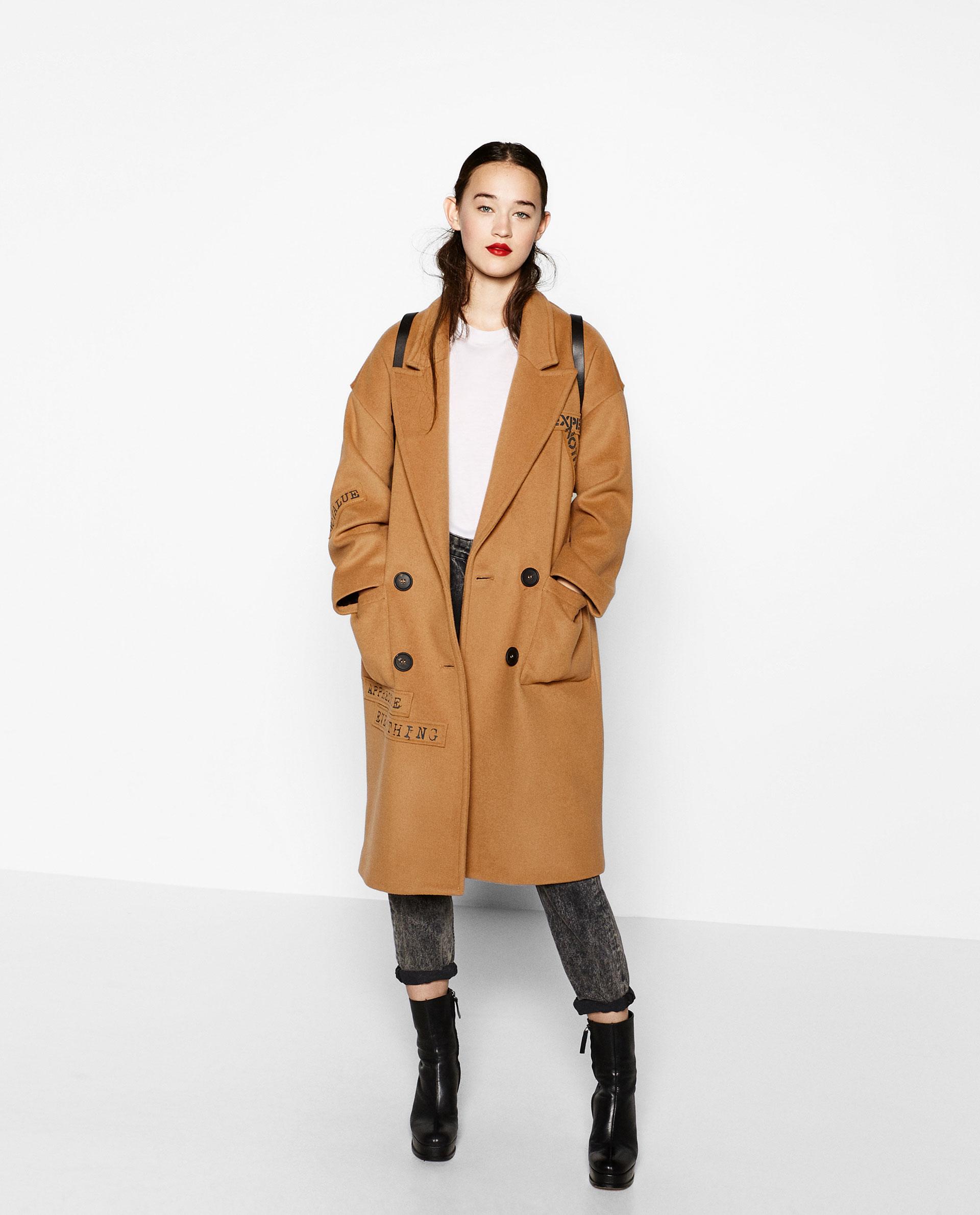 Cappotto cammello Zara