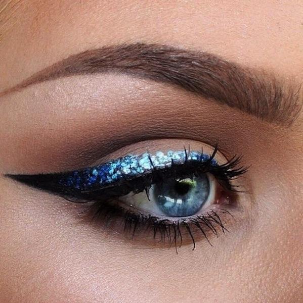 Eyeliner glitter azzurro