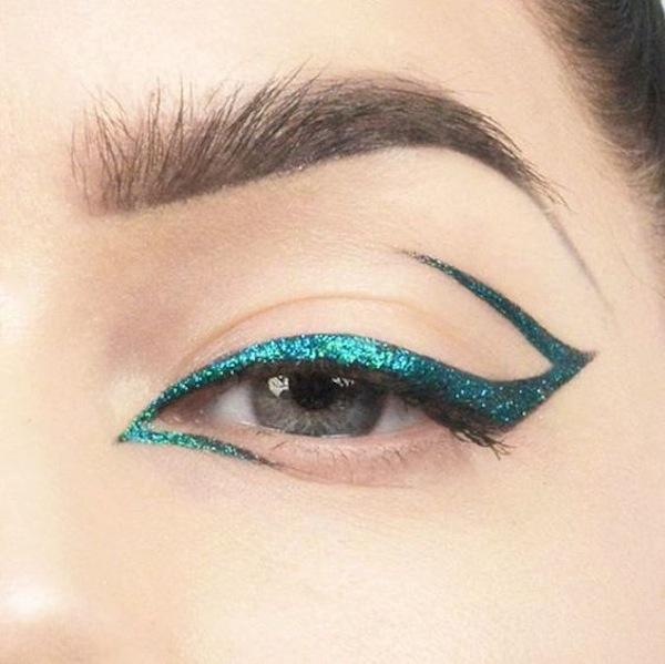 Eyeliner glitter ottanio grafico