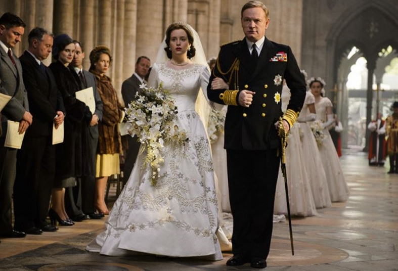 L'abito da sposa in The Crown