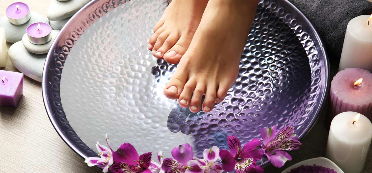 Pedicure in inverno