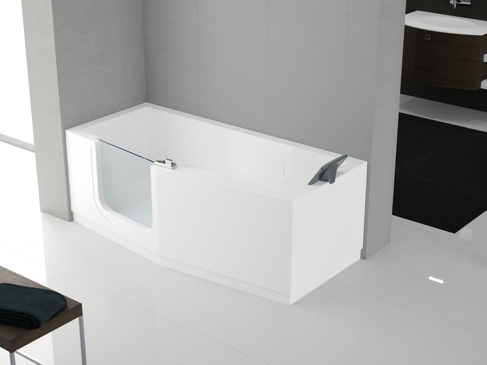 Come scegliere la vasca idromassaggio consigli e soluzioni per ogni stile di bagno foto - Porta vasca da bagno ...