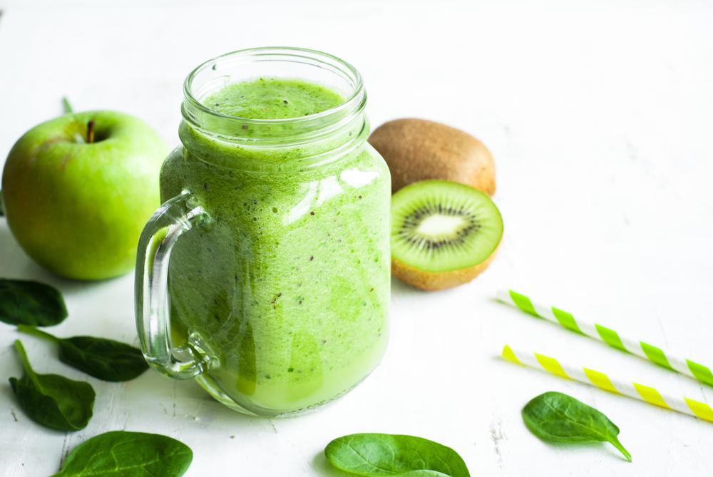 centrifugato kiwi mela spinaci