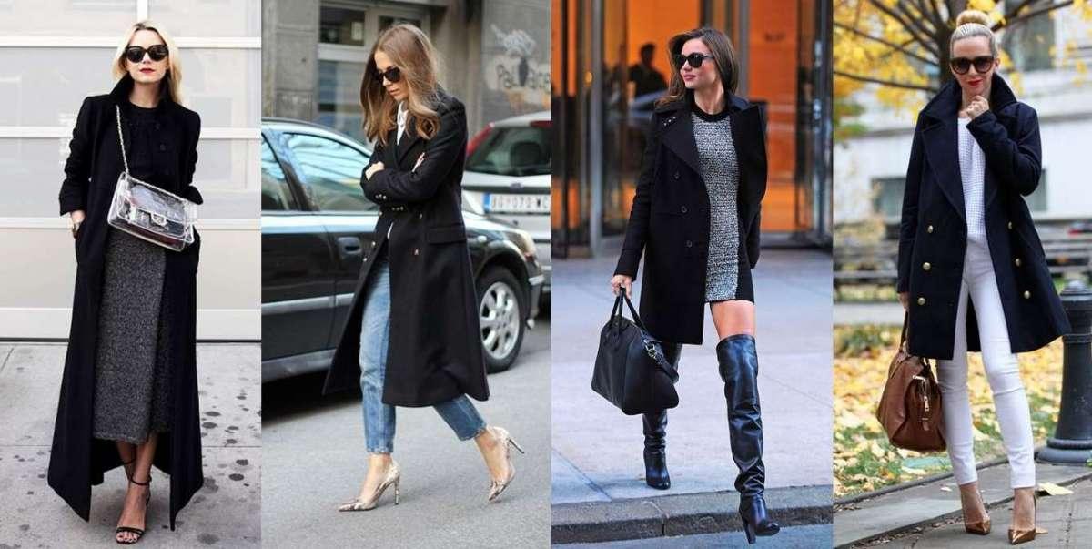 Come abbinare il cappotto nero: consigli per look glamour e chic [FOTO]