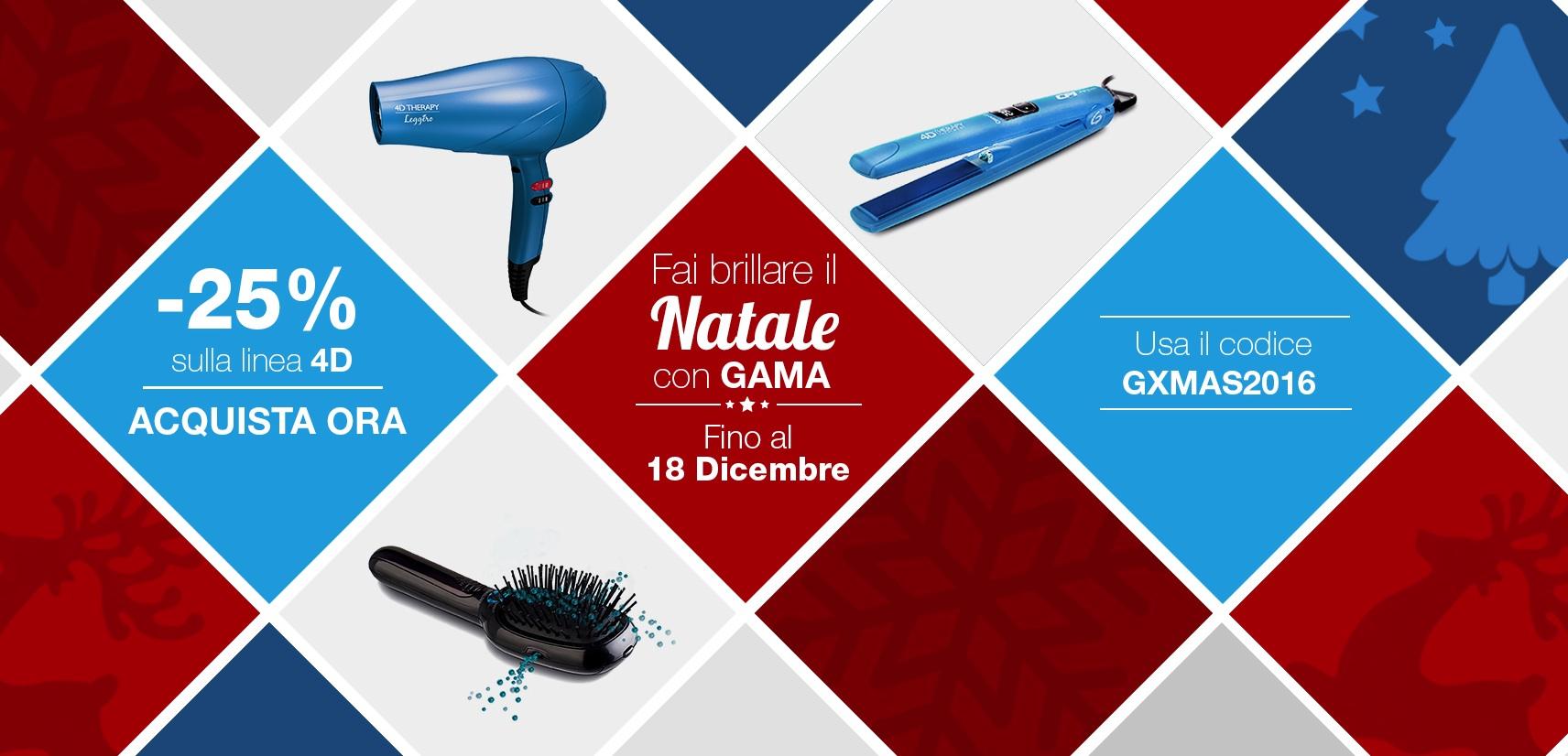 Gama, la nuova linea 4D Therapy in sconto per un Natale 2016 brillante