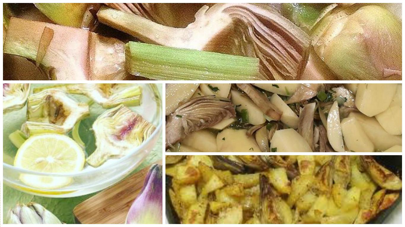 Carciofi e patate al forno, la ricetta light ma gustosa