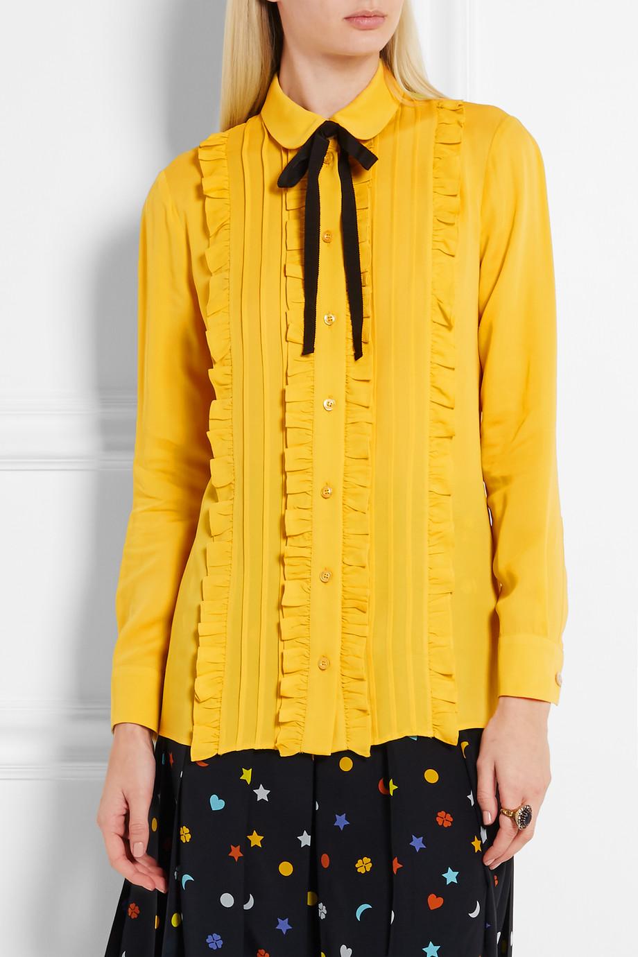 Camicia gialla Gucci