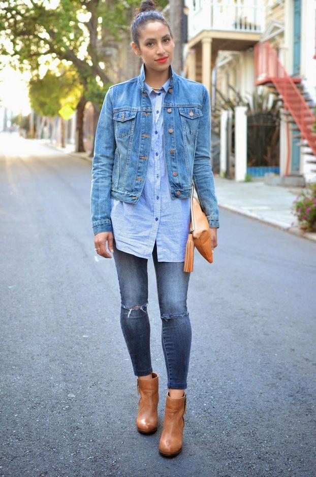 Giacca e camicia di jeans
