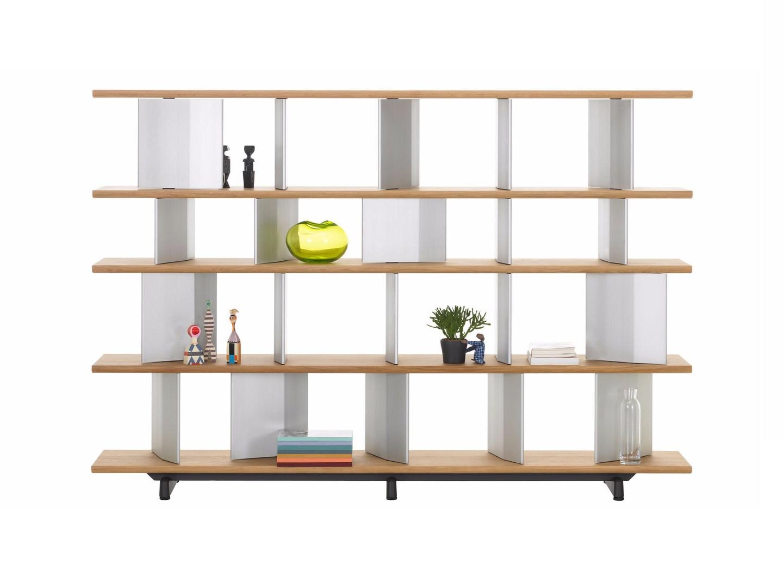 Libreria a giorno in legno massello PLANOPHORE Vitra