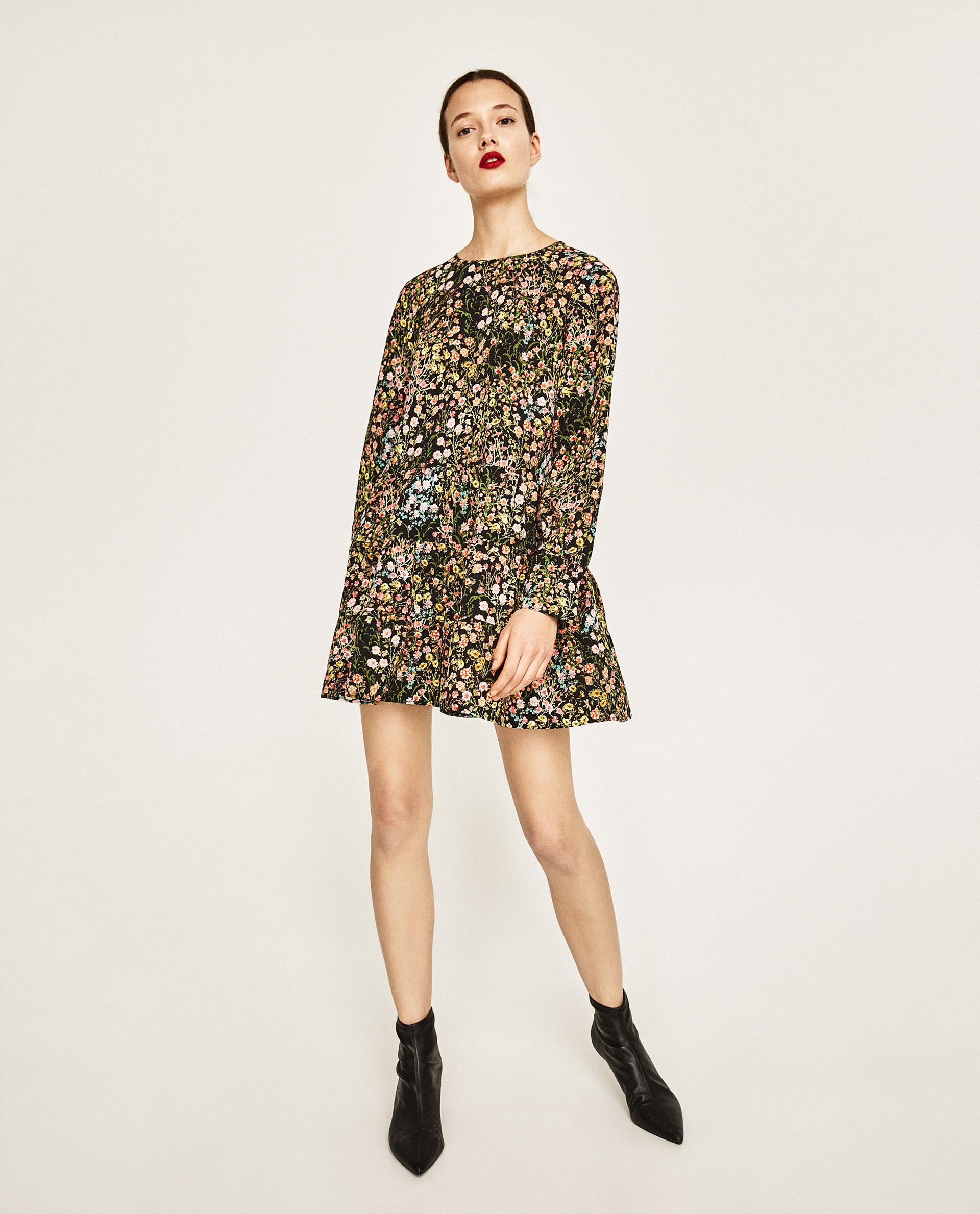 Minidress a fiori Zara