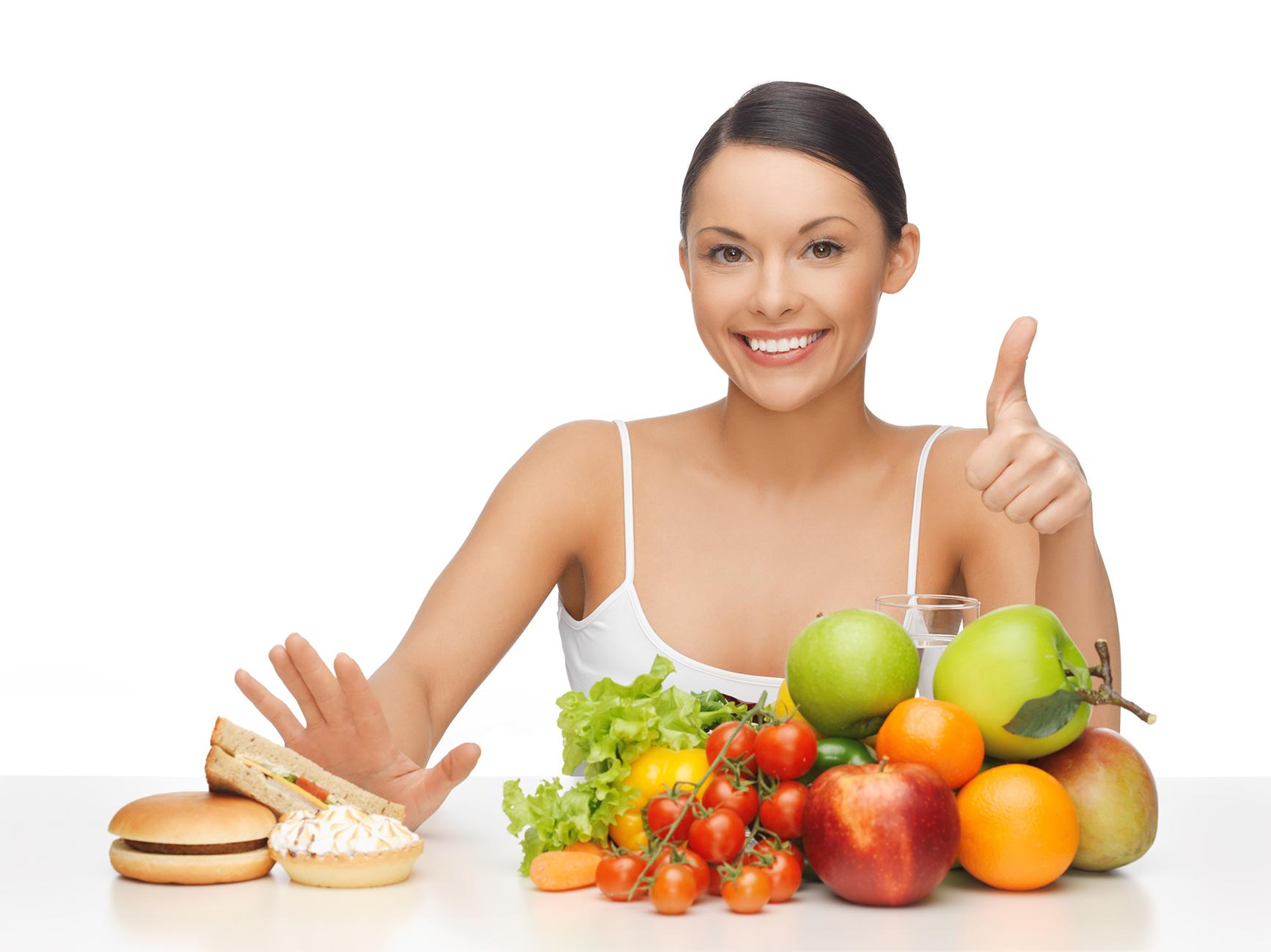 dieta sana viso riposato e luminoso