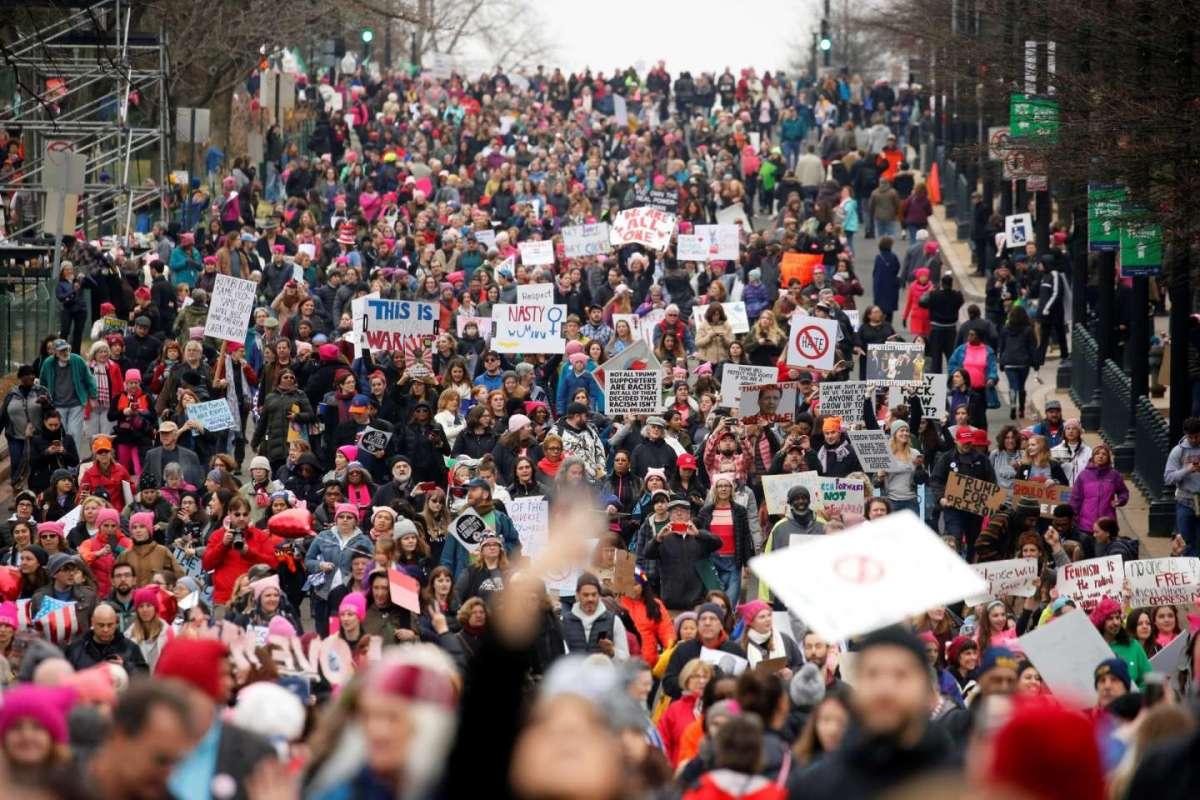 La marcia anti Trump