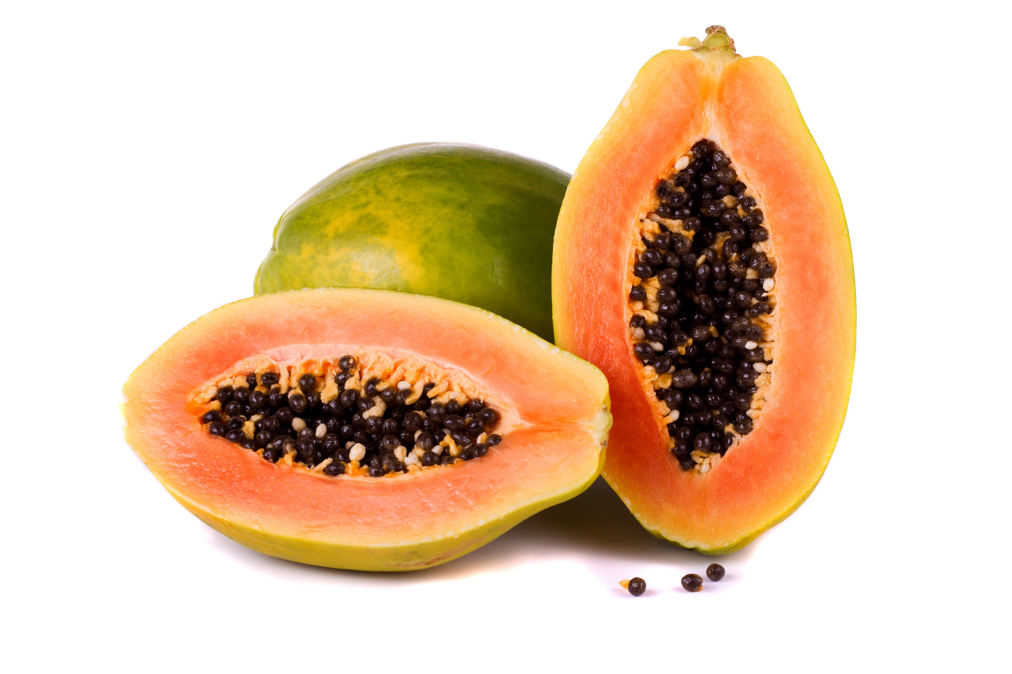 papaya viso riposato e luminoso