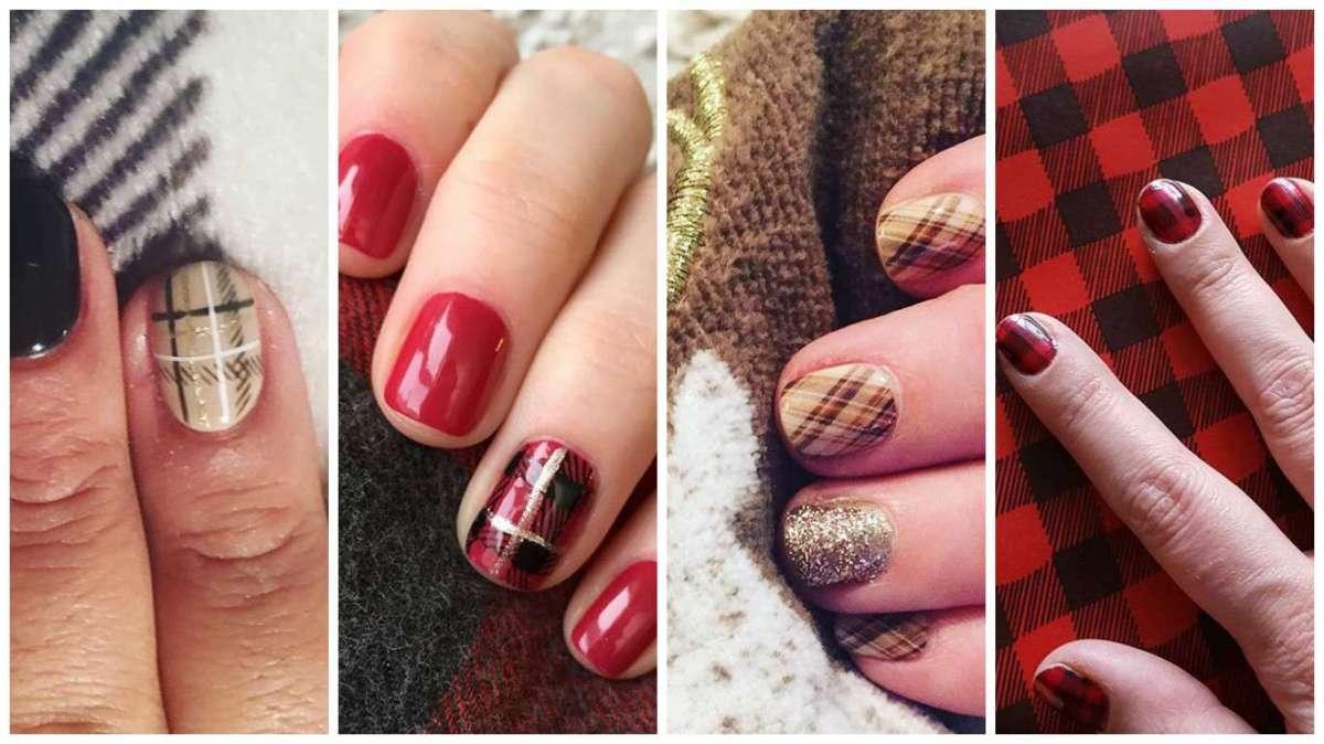 Plaid Nails, la manicure ideale per l'inverno: le idee social più originali [FOTO]