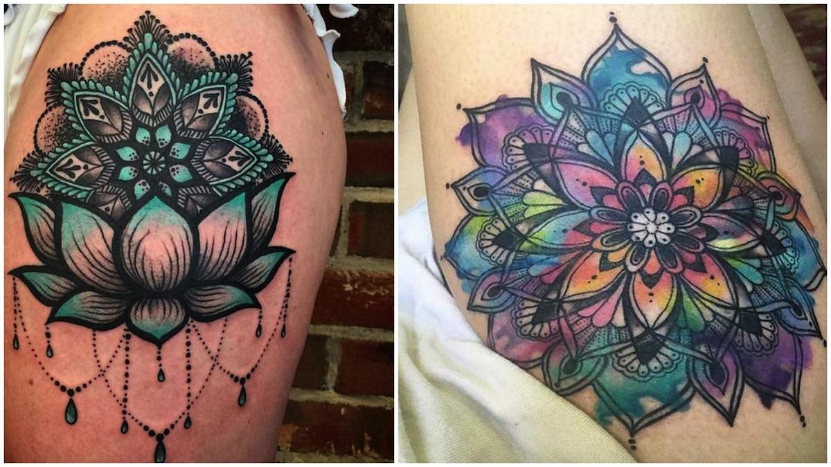 tatuaggi mandala colorati