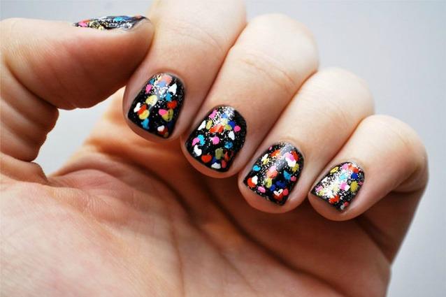 unghie carnevale semplici coriandoli