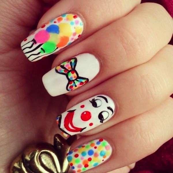 unghie gel carnevale nail art