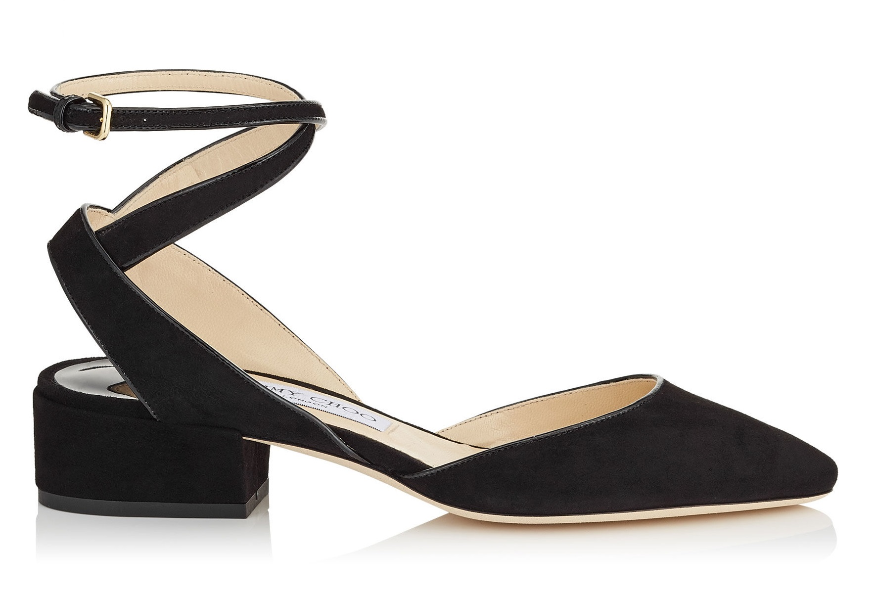 Ballerine in suede nero Jimmy Choo