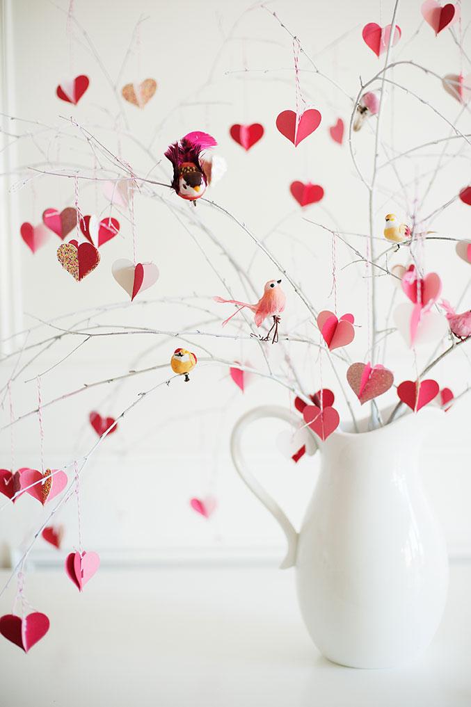 Centrotavola San Valentino fai da te albero cuori