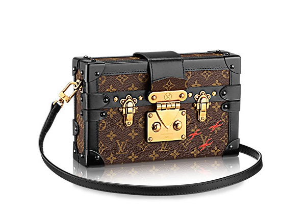 Clutch Petite Malle Louis Vuitton in tela Monogram
