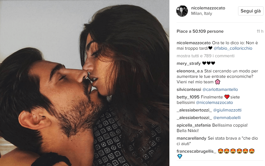 Fabio Colloricchio e Nicole Mazzocato di Uomini e Donne di nuovo in love, l'annuncio su Instagram