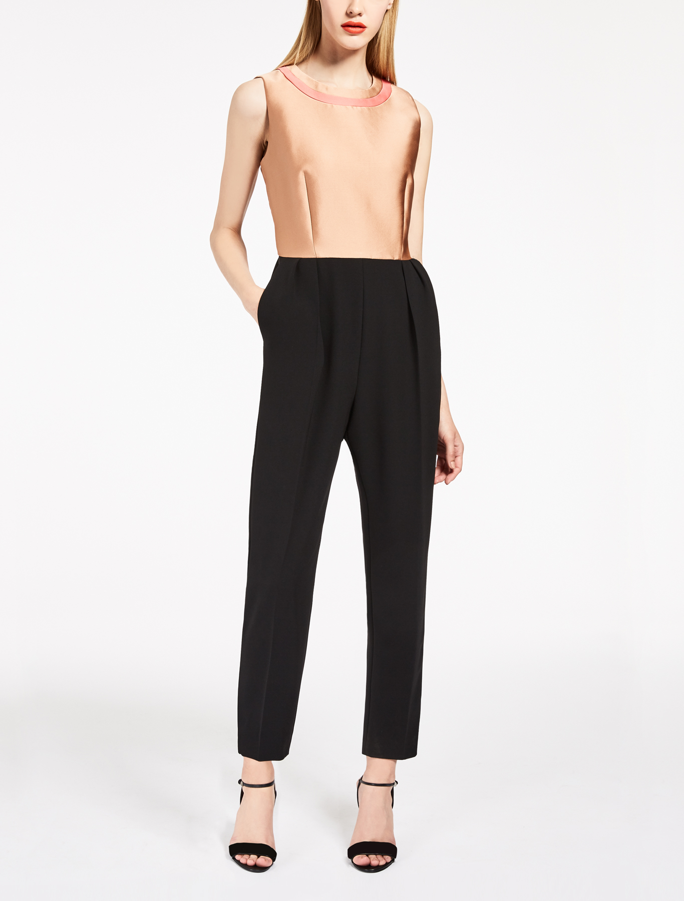 Jumpsuit in seta e cady
