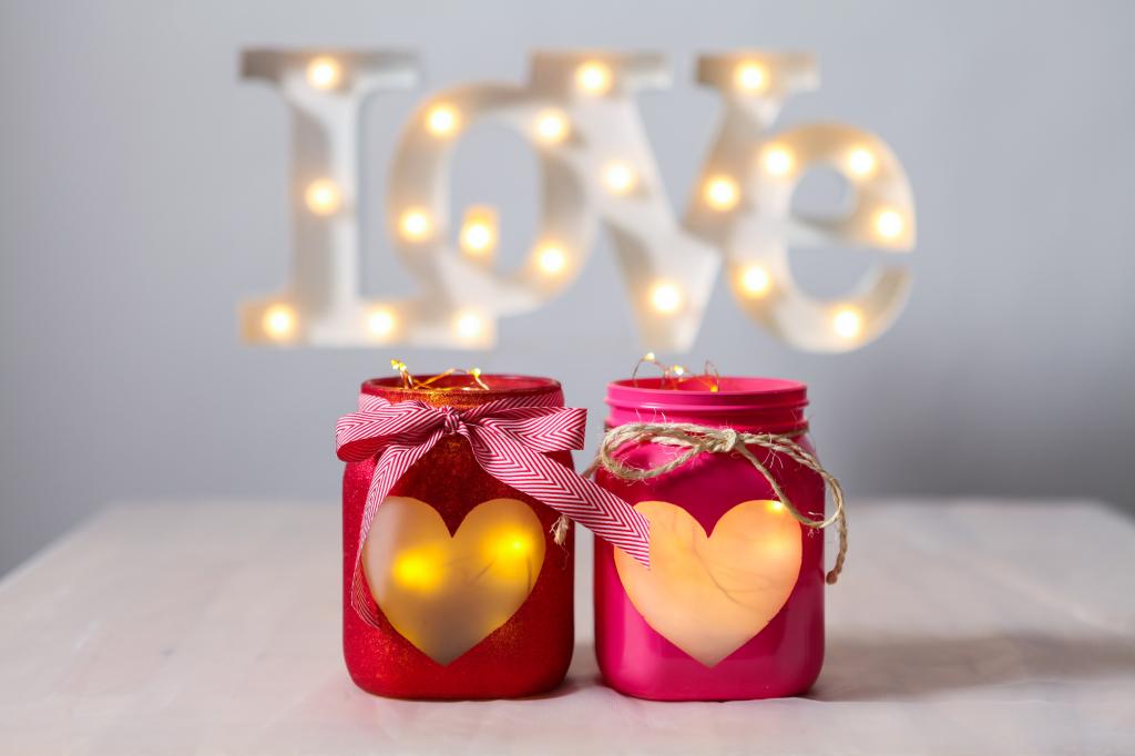 Lanterne San Valentino fai da te