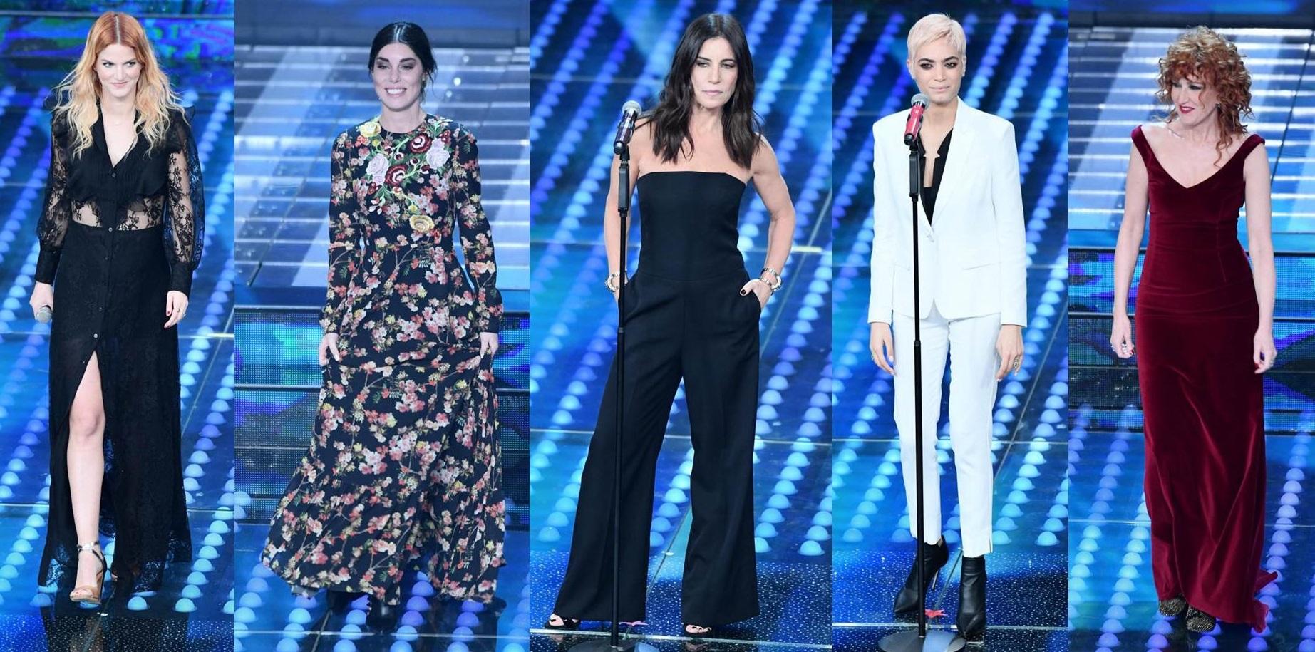 Le cantanti nella finale di Sanremo 2017