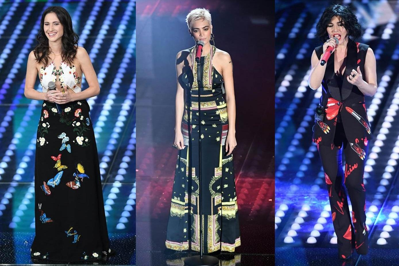 Le cantanti nella prima serata di Sanremo 2017