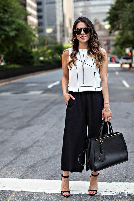 Look elegante con pantaloni culotte