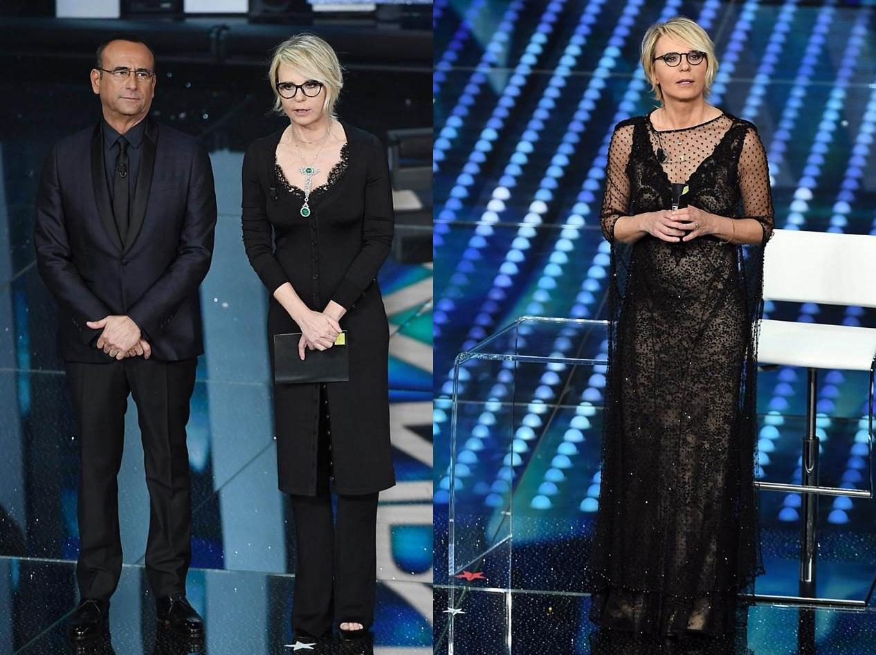 Maria De Filippi, gli abiti della seconda serata di Sanremo 2017