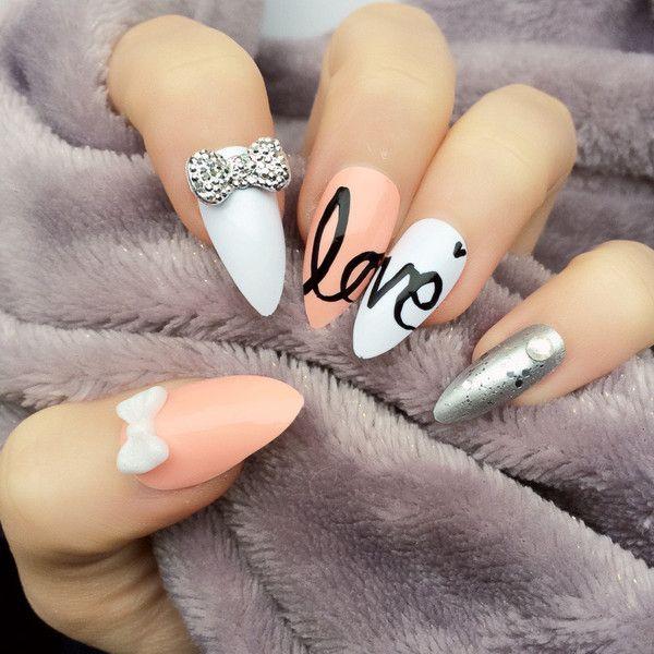 Unghie scritta love san valentino