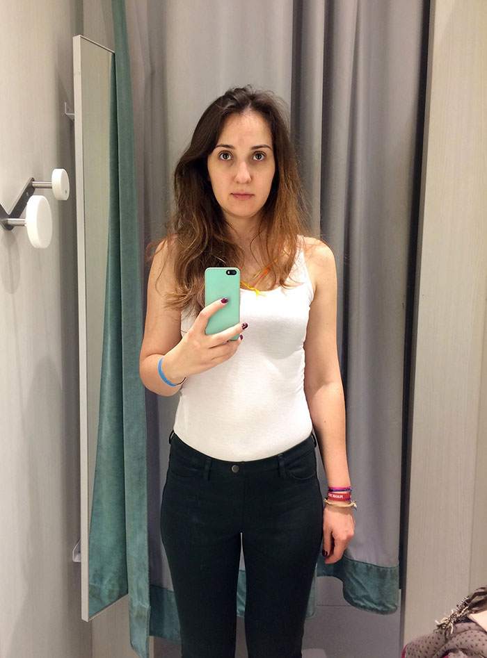 Uno scatto nel camerino di H&M
