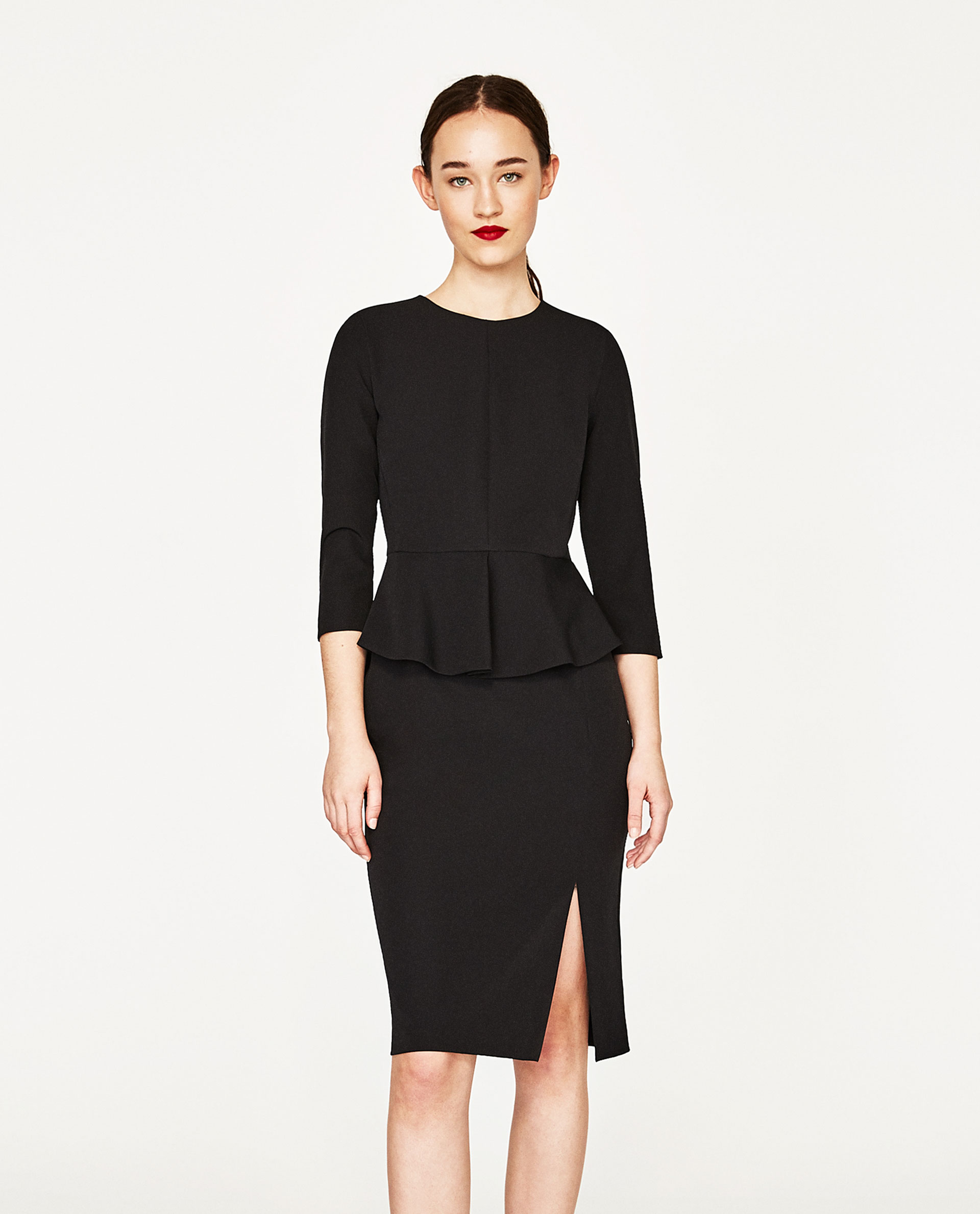 Vestito elegante Zara con peplum
