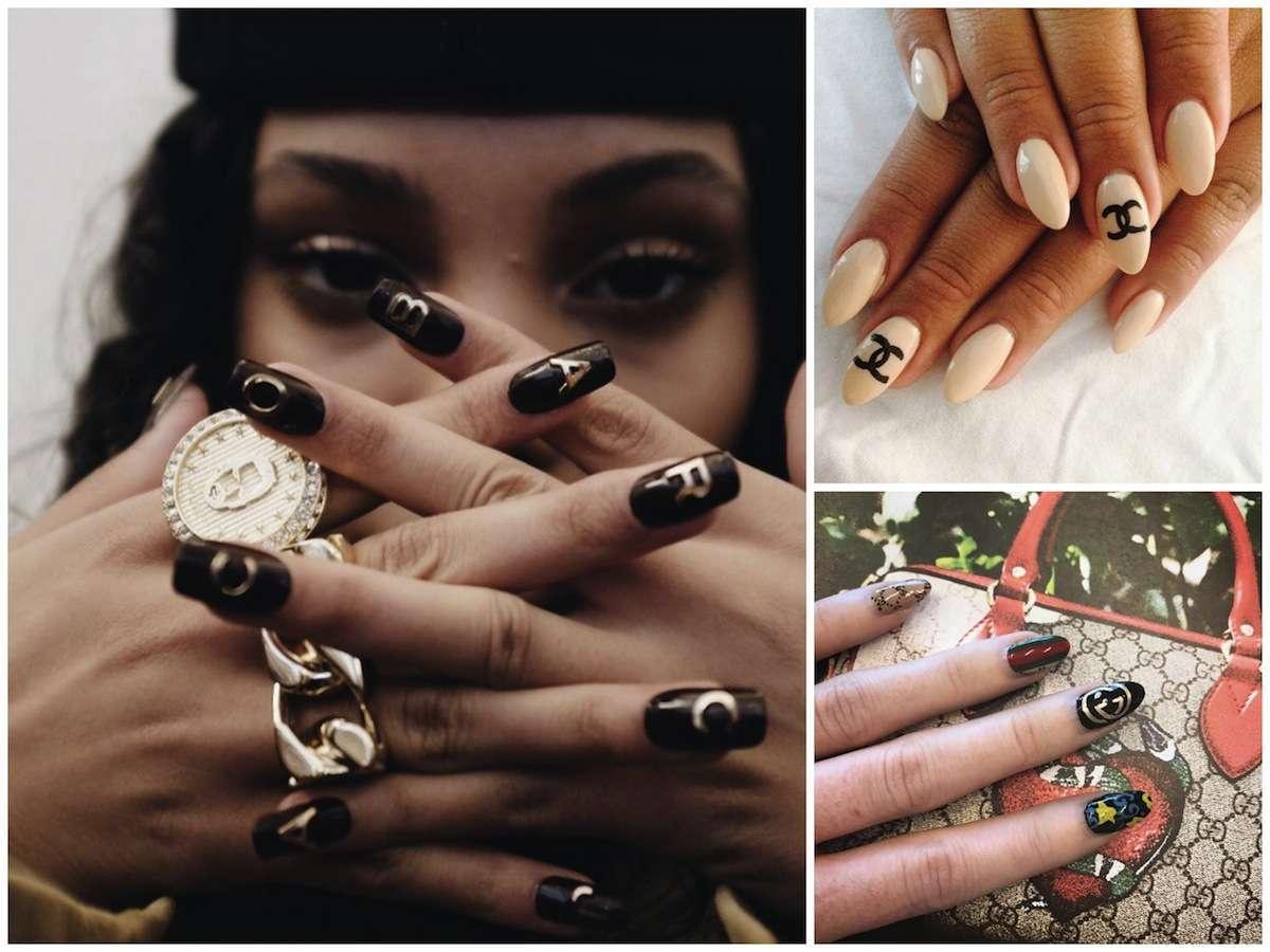 Logo nails: le unghie con il logo che stanno impazzando su Instagram [FOTO]