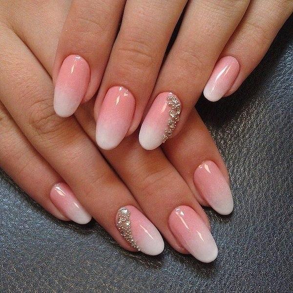 unghie rosa ombre san valentino