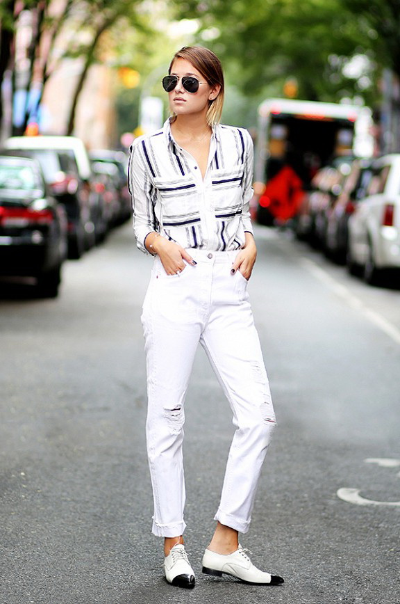 Abbinamenti scarpe francesine basse donna