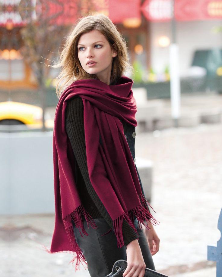 Come indossare la sciarpa pashmina da donna