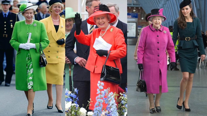 I look colorati di Elisabetta II