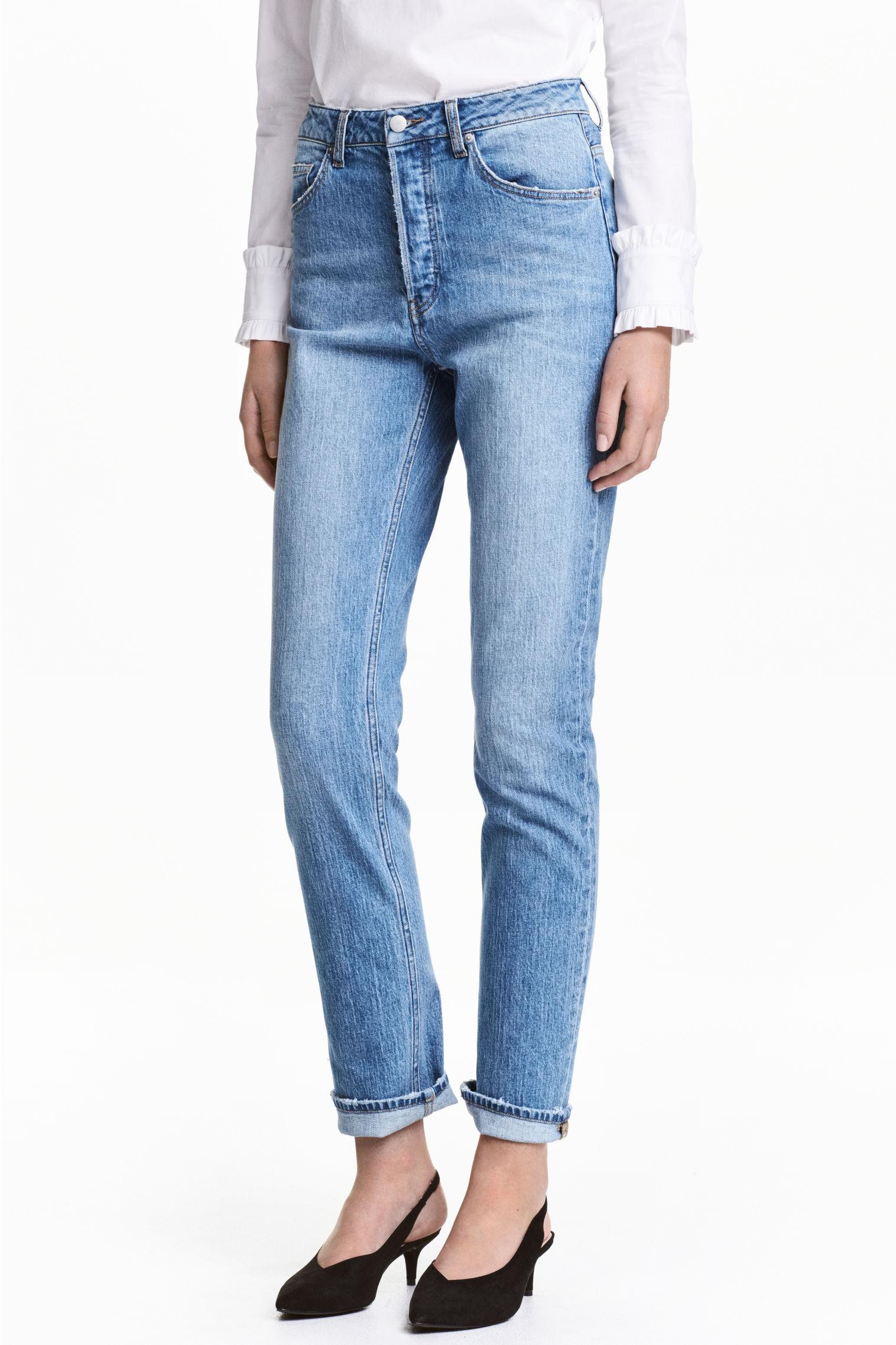 Mom jeans a vita alta H&M